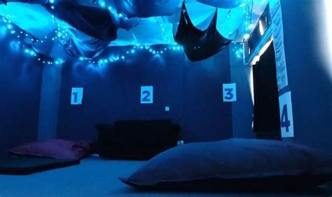 napping room set up for students to sleep at of