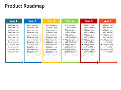 roadmap template powerpoint elegant product roadmap templates for