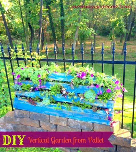 Vertical Pallet Garden Bed 40 Beautiful And Easy Diy Flower Beds To Brighten Your