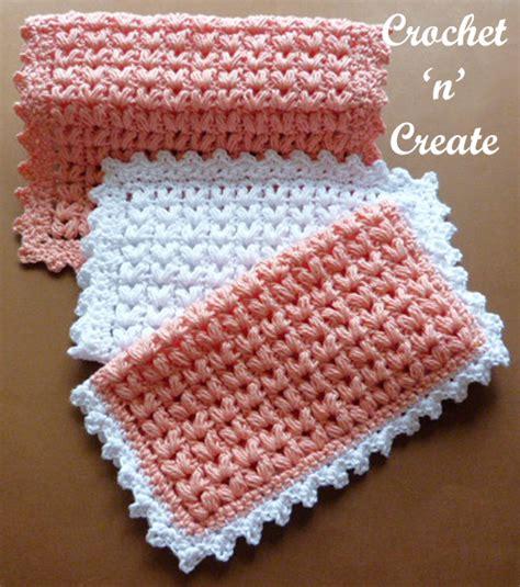 Puff Free Cotton puff stitch dishcloth free crochet pattern crochet n