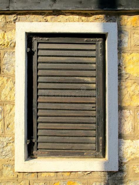 wooden slat exterior wall  garage door stock image