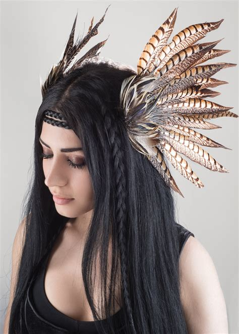 tribal pattern headdress ether a tribal feather headdress designed by drafted eminence