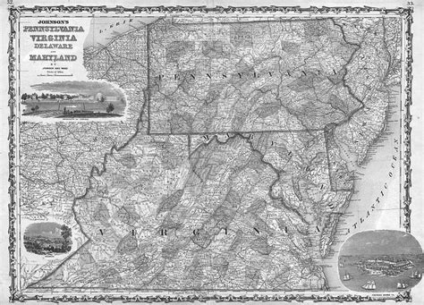 huge 1839 pa nj map armstrong wyoming cumberland county 1862 pa map shrewsbury dover manchester new freedom