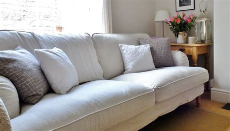 overstuffed sofa living room beach with bc beige molding ikea stocksund sofa easy to assemble lovely fabric