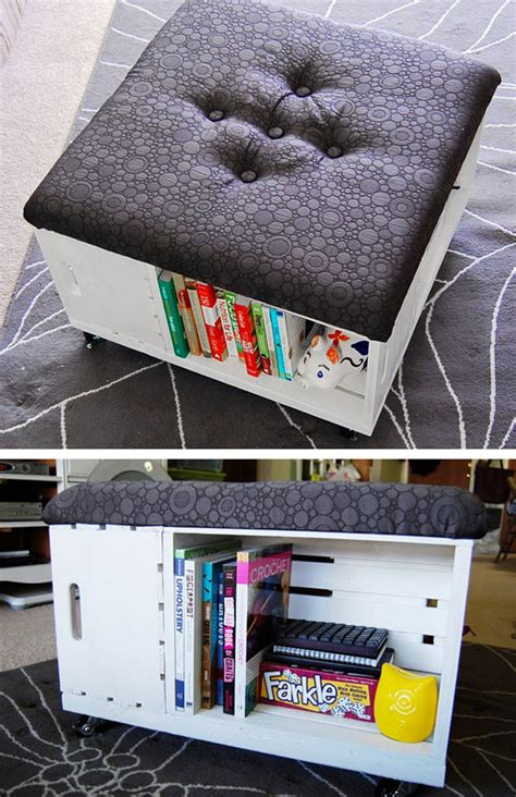 diy livingroom decor diy ottoman with storage click pic for 26 diy living