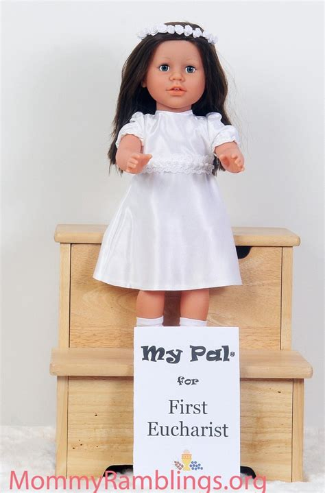 Holy Communion Giveaways - my sibling my pal 174 for first eucharist 18 quot girl doll review giveaway first holy