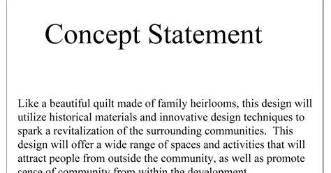 design statement template the artist s infill housing development concept