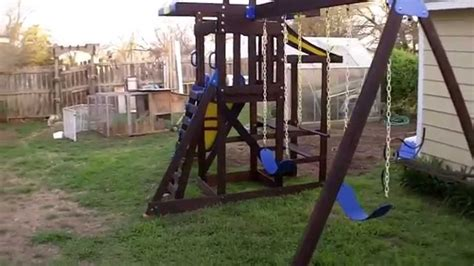 play sets for backyard wooden playset restoration youtube