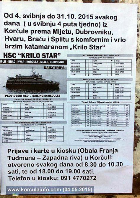 catamaran ferry krilo from dubrovnik to korcula ferry catamaran krilo star this morning on route split