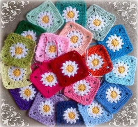 groovyghan crochet pattern daisies granny square free crochet pattern