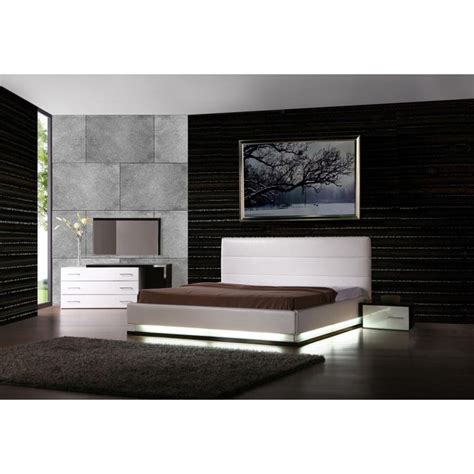 infinity platform bedroom set with lights by vig furniture