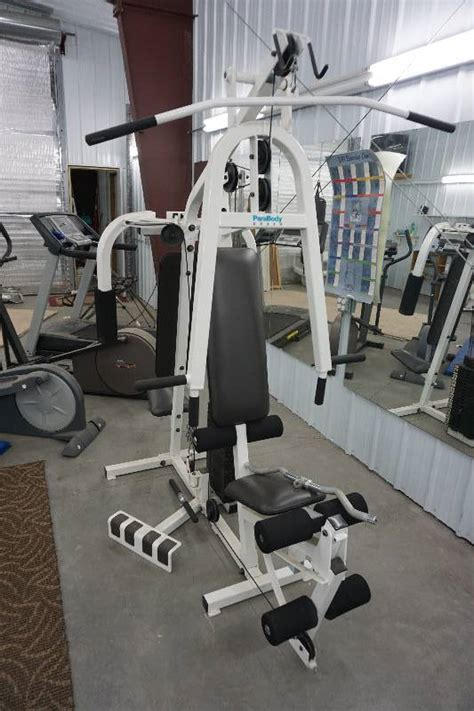 parabody ex 350 home exercise weight machine skate
