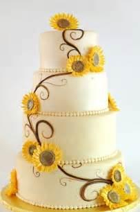 Modern sunflower wedding cake.   Sunflower Wedding Theme