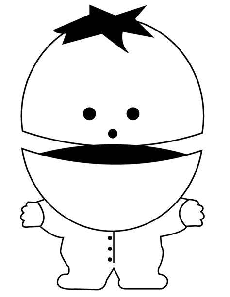 Ike Broflovski Coloring Page H M Coloring Pages South Park Coloring Pages
