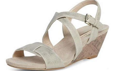 Dorothy Perkins Silver Snake Effect Low Wedges by Dorothy Perkins Womens Shoes