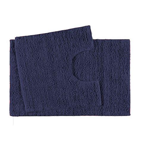 Navy Bath Mat George Home 100 Cotton Pedestal And Bath Mat Set Navy Towels Bath Mats Asda Direct