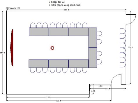 U Shaped Conference Table Dimensions with Su 104 Student Union