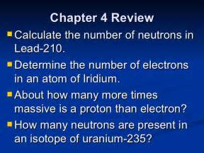 How Many Protons Does Uranium 235 Chapter 4 Review