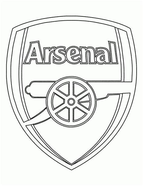 Mewarnai Gambar Logo Klub Arsenal - Contoh Anak PAUD