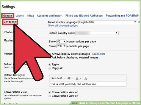 how to change your gmail background how to change your default language on gmail 15 steps
