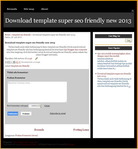 download template seo friendly terbaru 2014 tips blogger