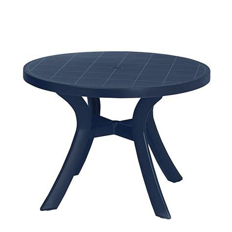 Gartentisch Kunststoff Blau