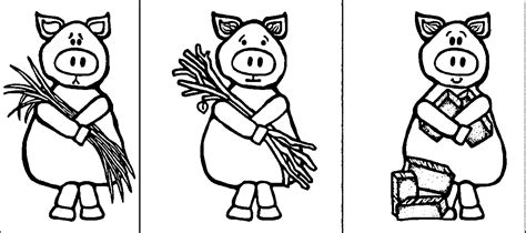three little pigs coloring page murderthestout