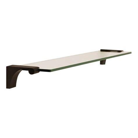 bronze 24 inch glass shelf with brackets alno inc