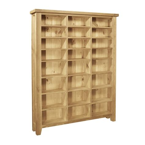 Cd Storage Cabinet Provence Solid Oak Furniture Large Cd Dvd Media Storage Cabinet Rack Shelves Ebay