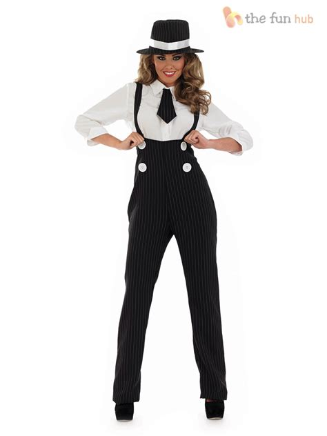 pinstripe gangster suit costume fancy dress up