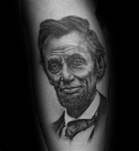 abraham lincoln tattoo 40 abraham lincoln designs for presidential ideas