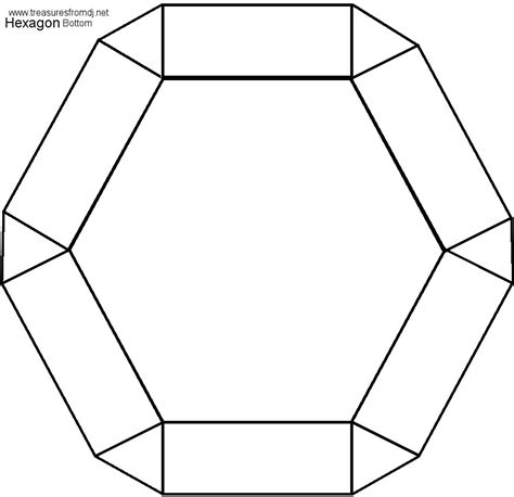 4 best images of hexagon 3d shape templates printable 8