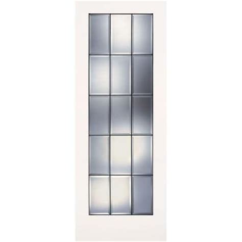 30 X 76 Interior Door feather river doors 30 in x 80 in 15 lite clear bevel patina smooth primed mdf interior door