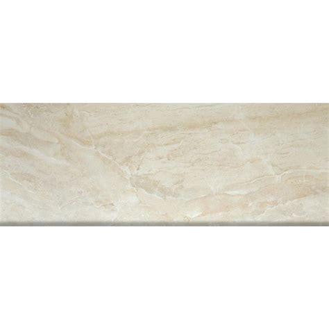 ms international onyx sand 3 in x 18 in porcelain bullnose wall tile nonyxsand3x18bn the