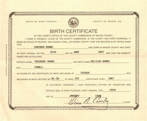 Birth Records Wv Birth Records Search Exle