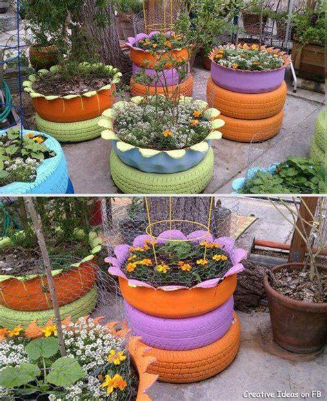 Inside Out Tire Planter by Tire Planters Outside The Home Tire