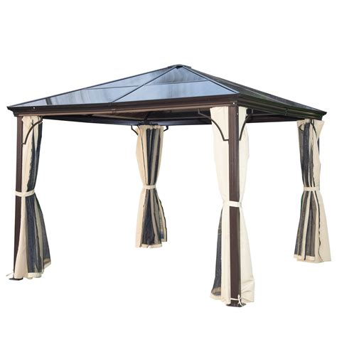 pavillon 3x3 metall outsunny 10 x 10 aluminum hardtop backyard gazebo with
