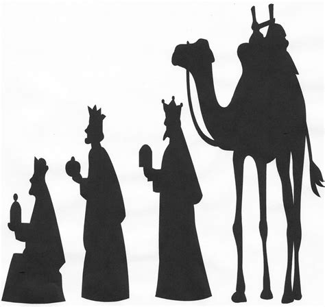 144 Best Images About Nativity Silhouettes On Pinterest Nativity Silhouette Template
