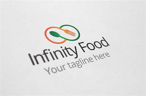 infinity food infinity food logo logo templates on creative market