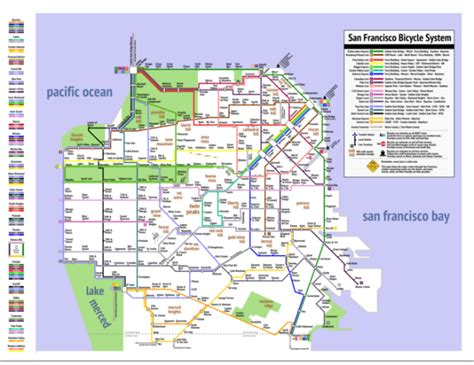 san francisco easy map a simplified bicycle map of san francisco inspired by