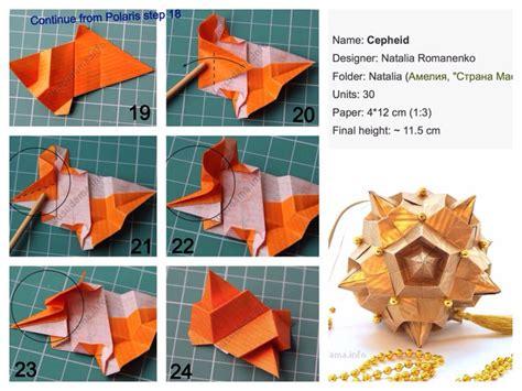 Modular Origami Tutorials - cepheid 1 3 kusudama