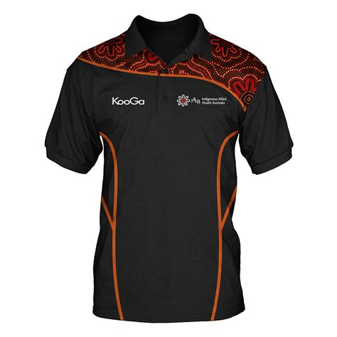 design a polo shirt australia iaha polo shirt red trim indigenous allied health