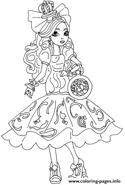 apple white ever after high coloring page apple white way too wonderland ever after high coloring