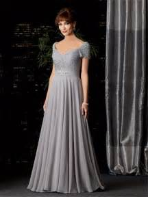 187 sexy a line v neck long silver chiffon mother of the bride dress