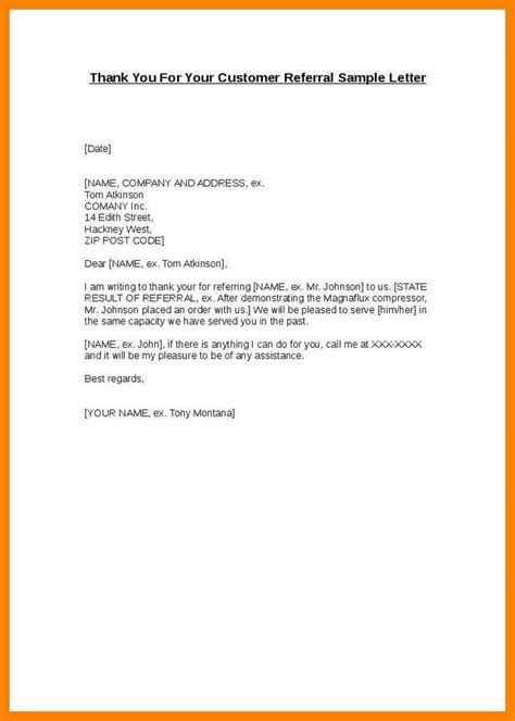 appreciation referral letter appreciation letter for referral 28 images customer