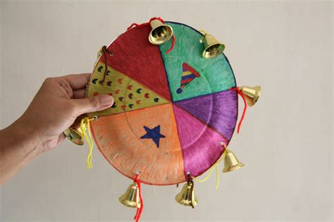 How To Make Paper Dish - how to create a paper plate tambourine 7 steps with