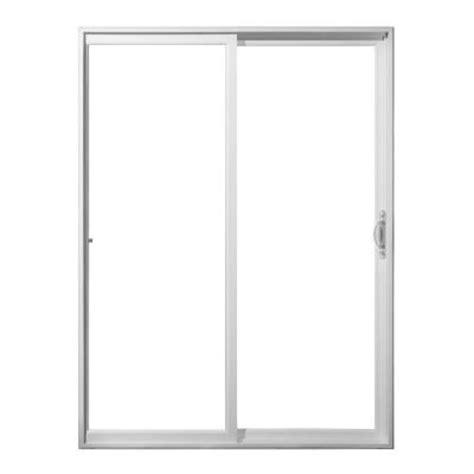 96 patio door jeld wen 96 in x 80 in white vinyl right sliding patio door