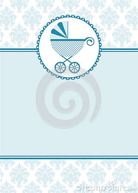 Baby Boy Card Template by Baby Boy Shower Invitation Card Royalty Free Stock Photo