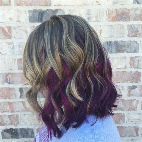 brunette hairstyles with purple highlights 22 sassy purple highlighted hairstyles for short medium