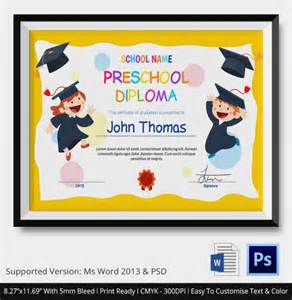 preschool graduation certificate template 11 graduation certificate templates word pdf documents